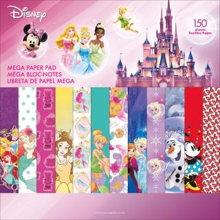 imagen Disney Single-Sided Mega Paper Pad 12 Princesas