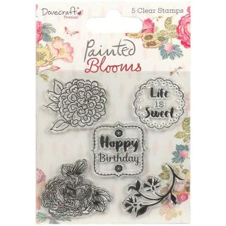 imagen Dovecraft Painted Blooms -Happy Birthday