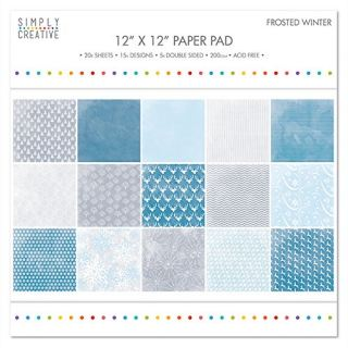 imagen Authentique Frosted Winter 12x12 pad