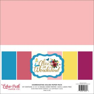 imagen Echo Park - Alice in Wonderland Collection - 12 x 12 - Solids