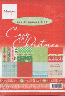 imagen Marianne Designs Cosy Christmas A5 bloc